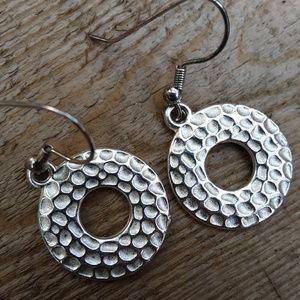 Silver ring earrings